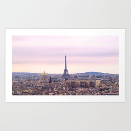 Eiffel Tower from Notre Dame Art Print