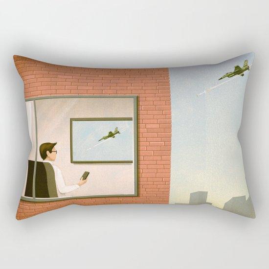 War is Closer Than You Think Rectangular Pillow