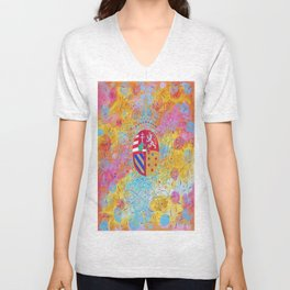 Arms of Marie Antoinette Unisex V-Neck