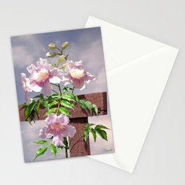 Pink Trumpet Vine Stationery Cards
