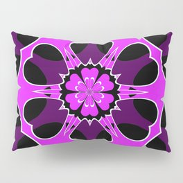 Lavender Tube in Cube Snowflake Pillow Sham