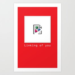 Talk Nerdy to me - Linking of you Art Print