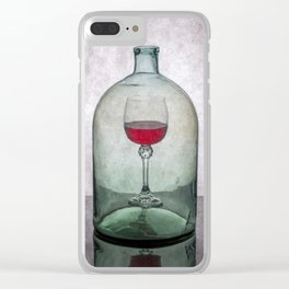 """Still life """"Inner content"""" with wine glass Clear iPhone Case"""