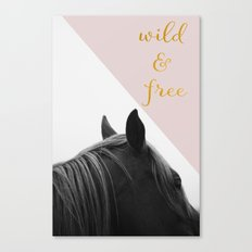 Wild & Free (Pink Horse) Canvas Print
