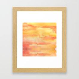 Apricot Sunset Framed Art Print