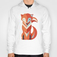 fox Hoodies featuring Fox by Jay Fleck