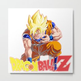 Songoku Super Saiyan Metal Print