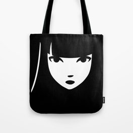 Emily the Strange: Emily's face Tote Bag