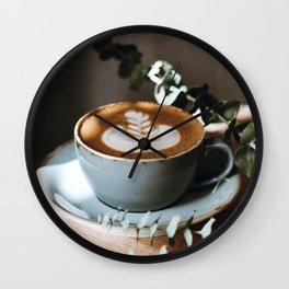 Latte Art V Wall Clock