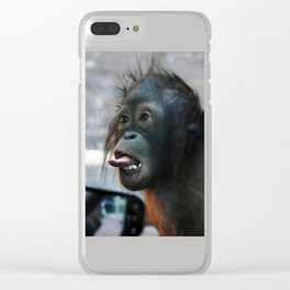Baby Orangutan Clear iPhone Case