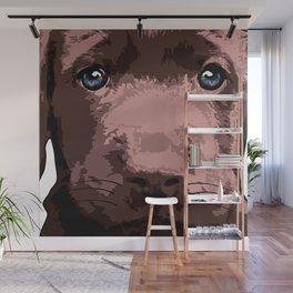 Hot chocolate labrador puppy Wall Mural