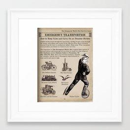 Emergency Transportation Promo for The Sreampunk World's Fair Framed Art Print