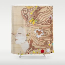 Lost in Dreaming Shower Curtain