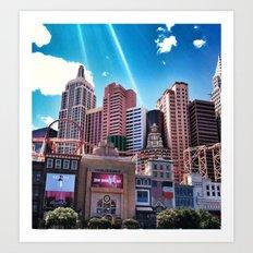 Las Vegas New York New York.!  Art Print