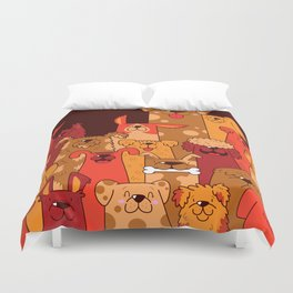 Pile of Woofs Duvet Cover