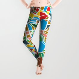 Happy city map Leggings