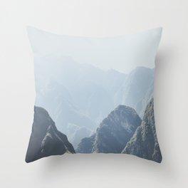 Mountains around Machu Picchu Throw Pillow