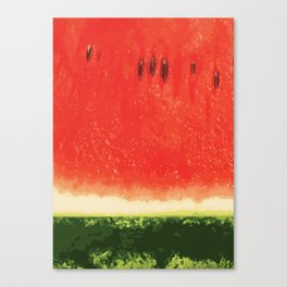 Watermelon Red Canvas Print