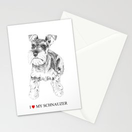 I love my Schnauzer Stationery Cards