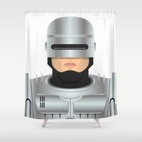 robocop Shower Curtains featuring Robocop by Capitoni