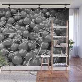 cherries pattern reacbw Wall Mural