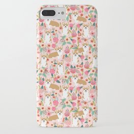 Corgi Florals - vintage corgi and florals gift gifts for dog lovers, corgi clothing, corgi decor, iPhone Case