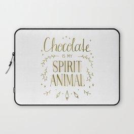 Chocolate is my Spirit Animal Laptop Sleeve