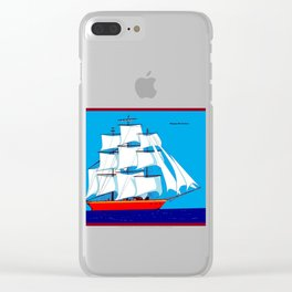 Clipper Ship in Sunny Sky - Happy Birthday on some items Clear iPhone Case