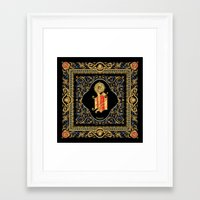 versace Framed Art Prints featuring Versace Classic by Goldflakes