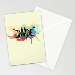 """invade"" Stationery Cards"