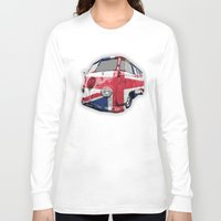 vw bus Long Sleeve T-shirts featuring VW UK Flag by Alice Gosling