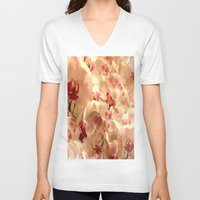 orchid V-neck T-shirts featuring Orchid by Bê Machado