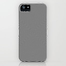 Hypnotic Circles optical illusion iPhone Case