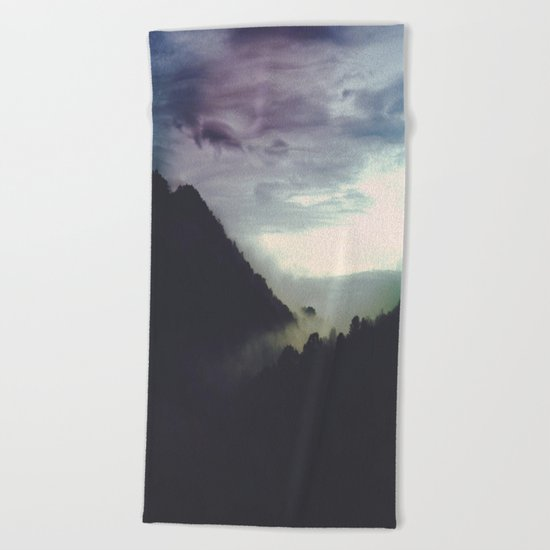 the life of letting go Beach Towel