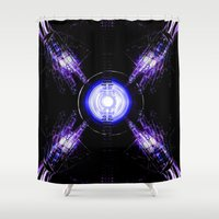 ouija Shower Curtains featuring Ouija by Violet Vibrance