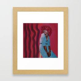 """He's Making Me Nervous"" Original Watercolor Painting Framed Art Print"