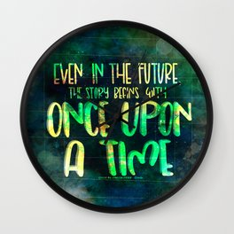 Once Upon A Time (Cinder) Wall Clock