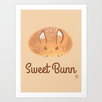 Sweet Bunn Art Print