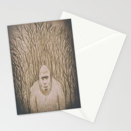 Sasquatch in the woods Stationery Cards