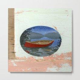 red canoe Metal Print