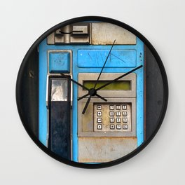Old fashioned phone Wall Clock