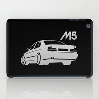 bmw iPad Cases featuring BMW E34 M5 - silver - by Vehicle