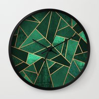 copper Wall Clocks featuring Emerald and Copper by Elisabeth Fredriksson