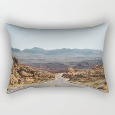 On the Desert Road Rectangular Pillow