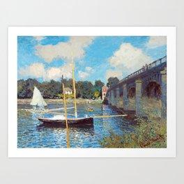 The Bridge at Argenteuil by Claude Monet Art Print