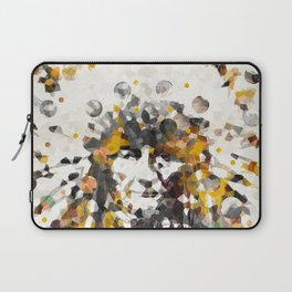 Modern Yellow Native American Indian Chief Laptop Sleeve