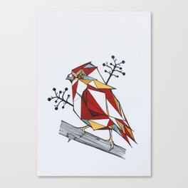 Origami Sparrow Canvas Print