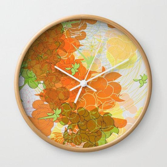 vegetal growth Wall Clock