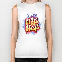 hip hop Biker Tanks featuring HIP-HOP by DaeSyne Artworks