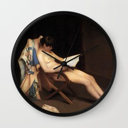 THE READING GIRL - THEODORE ROUSSEL  Wall Clock